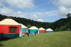 16ft yurts at FloydFest