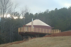30ft yurt with nice deck
