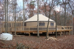 30ft yurt overlooking Potomac River