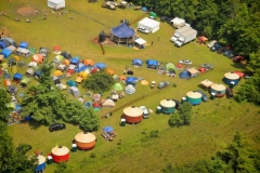 Yurt glamping at FloydFest