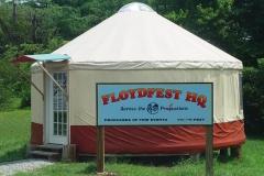 FloydFest Headquarters yurt