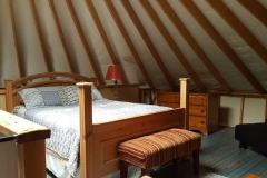30/10 yurt with loft bedroom