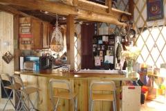 Kitchen in 10ft yurt