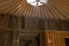 Yurt with ceiling fan