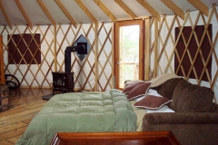 Yurt with stove