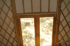yurt with double doors